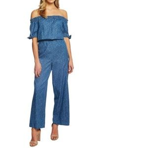 Cece Meadow Monet Wide-Leg OTS Jumpsuit